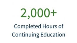 completed hours of continuing education